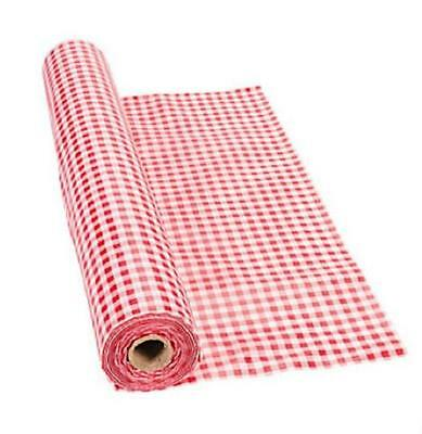 Summer Picnic Celebration Red Gingham Tablecloth Roll 40