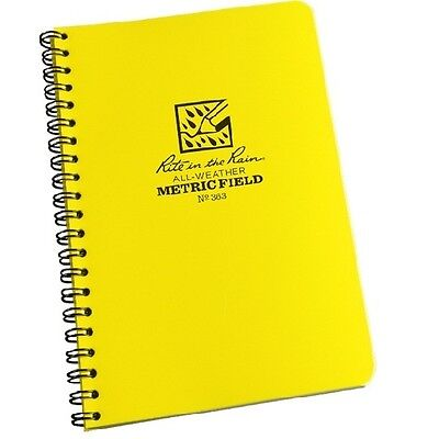 Rite In The Rain 363 All-weather Metric Field Spiral Notebook 4 58 X 7
