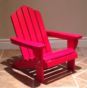 KIDS. Red Adirondack Chairs -Solid Wood