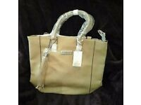 BNWT Pia Rossini Faux Leather Sand Coloured Bag