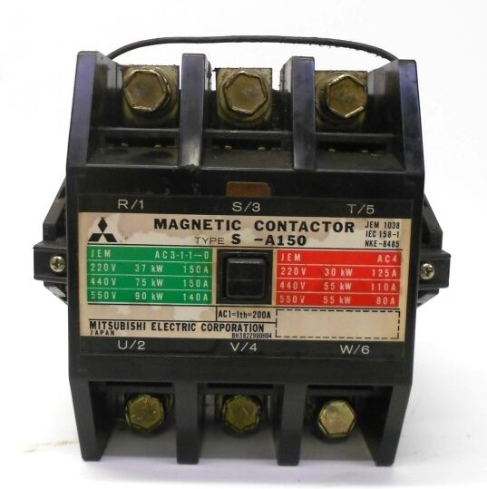 MITSUBISHI ELECTRIC CORPORATION MAGNETIC CONTACTOR TYPE S-A150, 100-110V