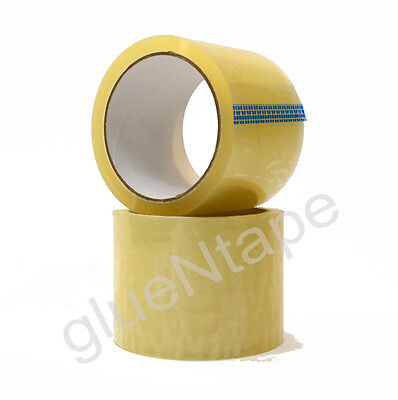 1.9 mil Clear Carton Sealing Hot Melt Packing Tape 3 inch x 55 yards (24 Rolls)