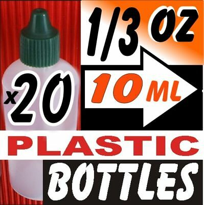 20pcs 10ml Clear Plastic Squeeze Dropper Bottles 1/3oz