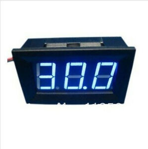 DIGITAL VOLTMETER 3-30V BLUE LED DISPLAY PANEL VOLTAGE VOLT METER 3 wire gauge