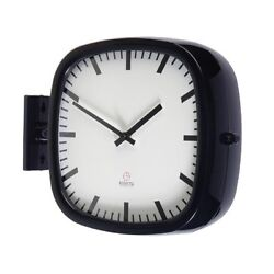 Modern Square Double Sided Wall Clock Design Station Clock Home Decor - P205BK