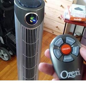 "NEW OZERI 42"" ULTRA WIND TOWER FAN OSCILLATING FANS REMOTE - AIR QUALITY CONTROL COOLING CONDITIONERS HOUSEHOLD"