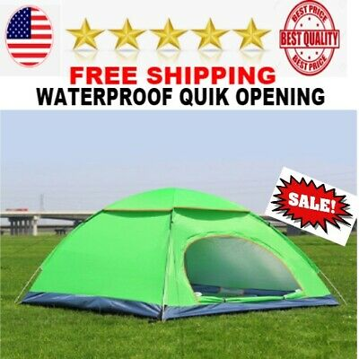 BEST Outdoor 4 Persons Camping Tent instant Open Beach tents Ultralight