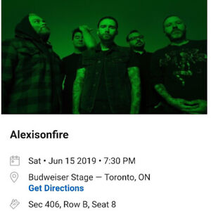 Alexisonfire - Sat, June 15 @ Budweiser Stage - 1 ticket in 406