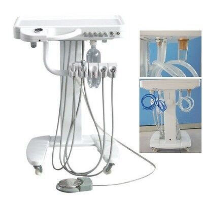 Dental Delivery Unit Mobile Cart Work Compressor Machine Portable
