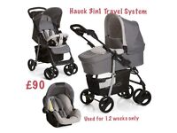 Hauck SLX pushchair, carry cot and car seat