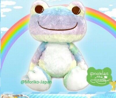 50cm.//20in. HUGE Pickles the Frog Rainbow Big Plush