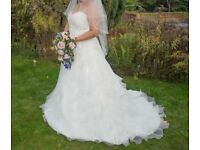 plus size wedding dress comee with tiara and veil!