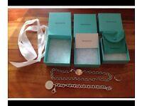 Genuine Tiffany necklace, bracelet & ring