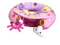 Unicorn girls sit me up baby activity ring nursery Brand New Pink
