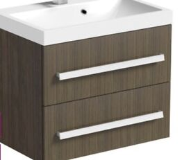 Victoria Plum, Orchard Wye Walnut, Walll hung vanity unit without basin