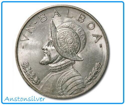 1947 Panama One Balboa .90 Silver Coin - AU