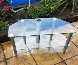 Glass tv unit stand ,would take up to a 42 icnh tv