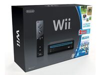 WII CONSOLE WITH 2 CONTROLLERS AND GAMES