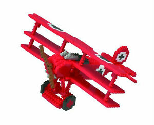 The-Red-Baron-Tri-Plane-Micro-Sized-Building-Block-Kawada-Min-Block-Construction