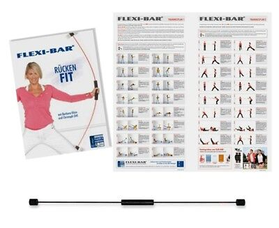 FLEXI-BAR Athletic schwarz + DVD + Trainingsplan