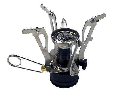 Piezo Ignition Compact Camping Stove Hiking Camping Emergency Survival Kit