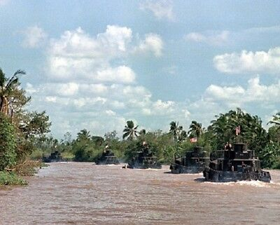 River Attack Boat Patrol on the My Tho River 8x10 Vietnam War Photo 299
