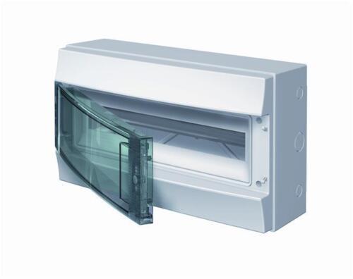 Electrical Enclosure MCB RCD ABB 18 Way Box inc Earth/Neutral Bars IP65 Rated