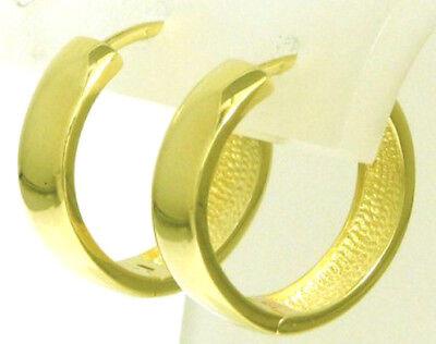 Damen & Herren Klappcreolen Creolen 14 Kt Ohrringe 585 Gold 13,8 mm durchmesser ()
