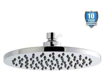 Rio Round 200mm Overhead Shower Head - Anti-Limescale + Swivel Joint     RDH22
