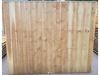 HEAVY DUTY VERTICAL BOARD FEATHER EDGE TANALISED PRESSURE TREATED GARDEN FENCE PANELS ROCHDALE