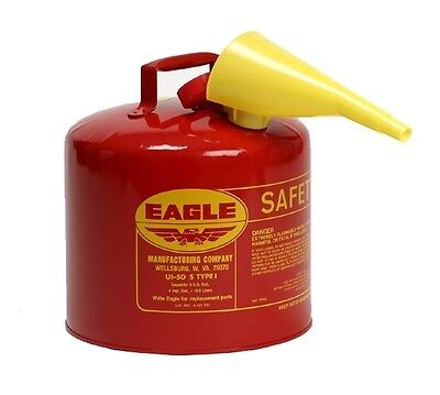 Eagle Safety Gas Can 5 Gallon OSHA & NFPA Approved NEW In Box  EAG UI-50-FS