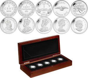 RCM Farewell To The Penny Fine Silver 5 Coins Set Mint