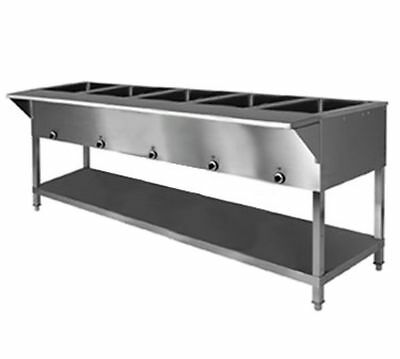 Klinger's All Stainless Steel 5 well Electric Steam Table Wet/Dry KTI SW-5H-240