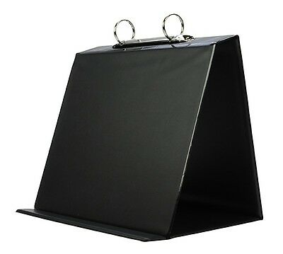 Conference Easel - 1 x A5 Black Presentation Conference Table Flip Chart Easel Stand & 10 Pockets