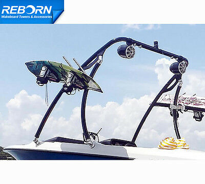 Promotion Reborn Elevate Wakeboard Tower Glossy Black Coated| 5 Years Warranty