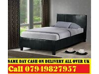 SINGLE , DOUBLE , SMALL DOUBLE , KINGSIZE LEATHER Bed WITH Mattress