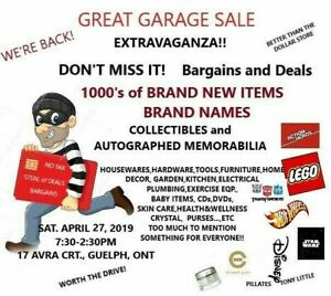 GREAT GARAGE SALE EXTRAVAGANZA-APRIL 27