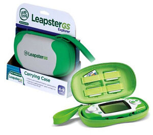 Green Case Leapster GS Explorer LeapFrog LeapsterGS Carry Protective for Console