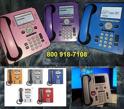 Telephone Avaya 9508 9608 Design Color Skin - Blue Qty Of 3