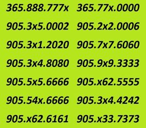 416 Number Toronto number ending 000x is available