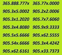 PAIRS 416 647 905 AREA CODE PHONE NUMBERS