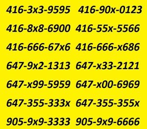 LET YOUR CLIENTS REMEMBER YOUR 416/647/905 BUSINESS NUMBER