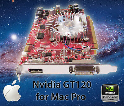 Apple Mac Pro Nvidia GT 120 512MB PCI-E Video Card 3.1 - 5.1 Xserve 2600 8800 4k ()