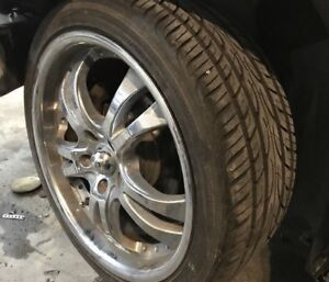 Mags chromés 18'' comme neuf tires comme neuf