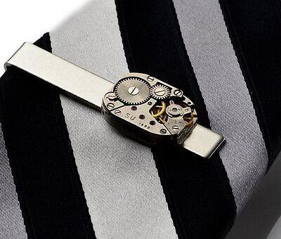 Steampunk Tie Clip - Tie Bar - Tie Clasp - Business Gift - Handmade - Gift Box