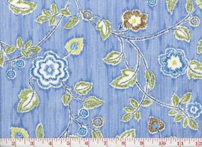Ткань Blue Floral Drapery Upholstery Fabric
