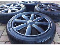 "Genuine 17"" BMW Mini Cooper S 8 Spoke Newage Crown Refurbished Alloy wheel & tyres"