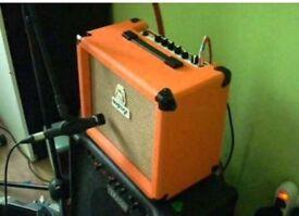 Orange crush 15w Guitar amp.