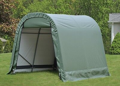 ShelterLogic 8x8x8 Round Style Portable Garage Shed Instant