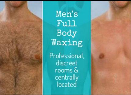 Men's full body waxing service